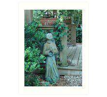 Angels dwell in the garden... Art Print