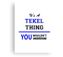 It's a TEKEL thing, you wouldn't understand !! Canvas Print