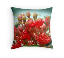 Buds and Blossoms. Throw Pillow