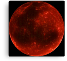 """""""BRIGHT BLOOD MOON PHOTOGRAPHY"""" Canvas Print"""