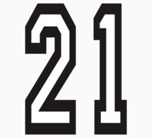 TEAM SPORTS, NUMBER 21, TWENTY ONE, 21, TWENTY FIRST, TWO, ONE, Competition,  Kids Clothes