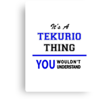 It's a TEKURIO thing, you wouldn't understand !! Canvas Print