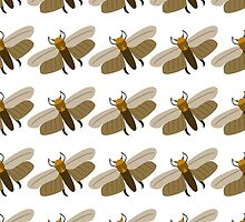 seamless pattern wax moth by Ann-Julia