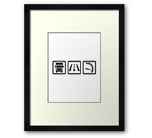 Trucker icons Framed Print