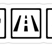 Trucker icons Sticker