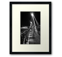 Hungerford / Golden Jubilee Bridge Framed Print