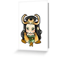 Lady Loki Greeting Card