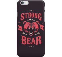 STRONG AS A BEAR iPhone Case/Skin