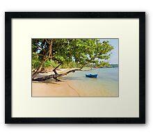 Tropical Island Scenery Framed Print