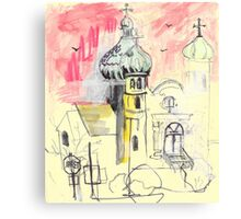 Urban Sketch Canvas Print