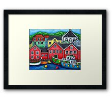 Colours of Lunenburg, Nova Scotia Framed Print