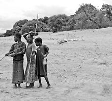 Nkhotakota girls, Lake Malawi by Tim Cowley
