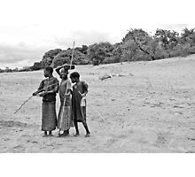 Nkhotakota girls, Lake Malawi Photographic Print