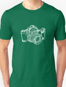 Pentax 6X7 Medium Format Camera WHITE INK T-Shirt