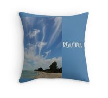 Beautiful, Florida! Throw Pillow
