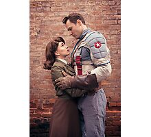 Tanya Wheelock as Peggy Carter and Michael Mulligan as Captain America (4.1 - Photography by Sean William / Dragon Ink Photography) Photographic Print