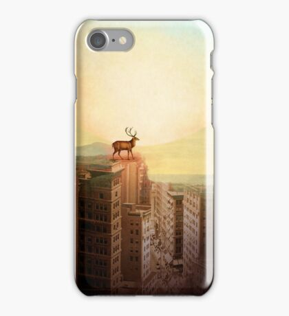 Deer at Dawn iPhone Case/Skin