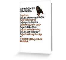 Dogs Are Better Than Children Greeting Card