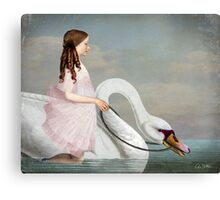 Ride a White Swan Canvas Print