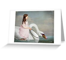 Ride a White Swan Greeting Card
