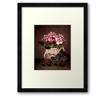 Violets And Grapes Framed Print