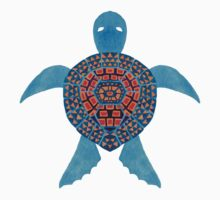 The Blue Tribal Sea Turtle Kids Tee