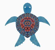 The Blue Tribal Sea Turtle One Piece - Long Sleeve