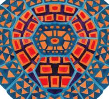 The Blue Tribal Sea Turtle Sticker