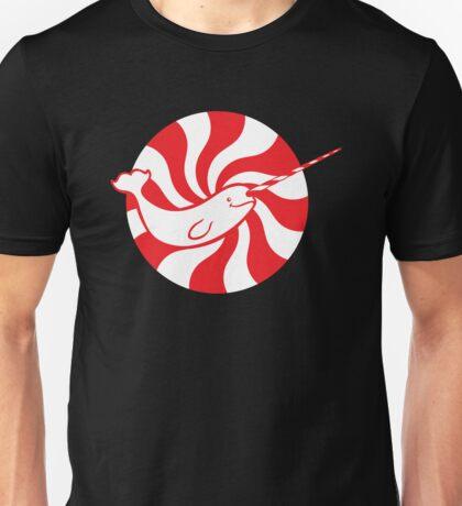 Rising Peppermint Sun Narwhal Unisex T-Shirt