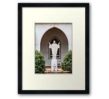 Statue of Jesus Framed Print