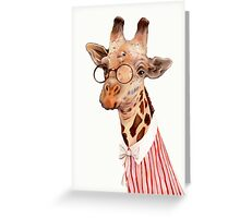 Lady Giraffe Greeting Card
