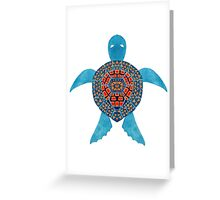 The Blue Tribal Sea Turtle Greeting Card