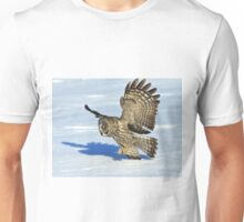 Great Grey Hunting Sequence 3 Unisex T-Shirt