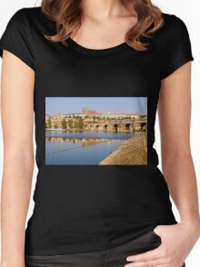 City of Prague Women's Fitted Scoop T-Shirt