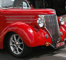 Red 36 ford coupe by boydcarmody