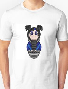 The isolated nested doll the goth drawn by hand.Cute gothic girl. Unisex T-Shirt