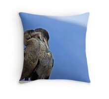 Cormorant Pair Throw Pillow