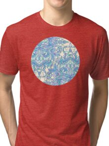 Lilac, Mint & Aqua Art Nouveau Pattern Tri-blend T-Shirt