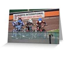 Speedway Riders Greeting Card