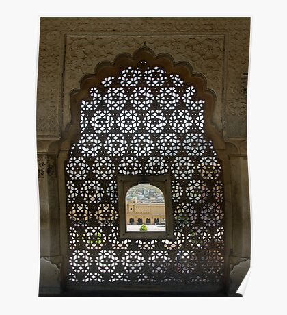 View through a marble screen Poster