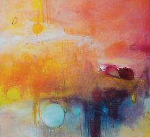 Blue Lake,Orange Abstract Giclee print,Orange Blue Giclee,Abstract Painting,Large Abstract Painting,Red Blue Art Print,Pink wall art by AndradaArt