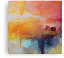 Blue Lake,Orange Abstract Giclee print,Orange Blue Giclee,Abstract Painting,Large Abstract Painting,Red Blue Art Print,Pink wall art Canvas Print