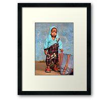 Little boy blue Framed Print