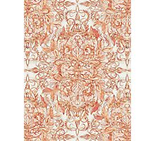Autumn Peach Art Nouveau Pattern Photographic Print