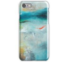 Newton's Alchemy Print from Original Aqua Blue Painting  iPhone Case/Skin