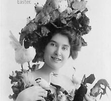 Easter Beauty and Love Vintage Model with Bonnet by taiche