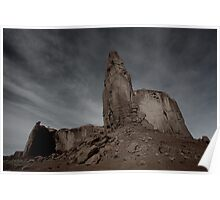 Dark Skies at Monument Valley Poster