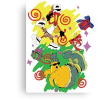 Funky Aliens (Toejam and Earl) Canvas Print