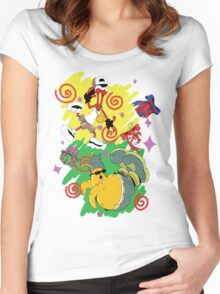 Funky Aliens (Toejam and Earl) Women's Fitted Scoop T-Shirt