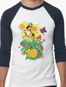 Funky Aliens (Toejam and Earl) Men's Baseball ¾ T-Shirt